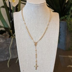 Jewelry - Gold Rosary Necklace